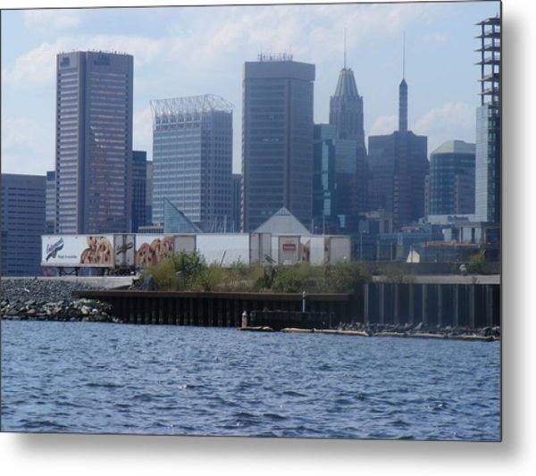 Baltimore Harbor Metal Print by James and Vickie Rankin