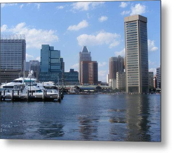 Baltimore Inner Harbor Metal Print by James and Vickie Rankin