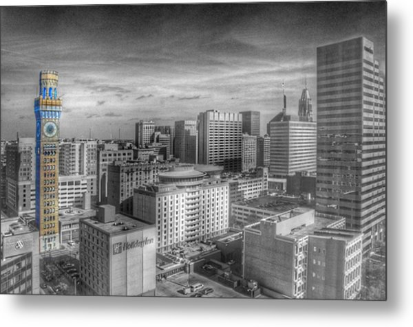 Metal Print featuring the photograph Baltimore Landscape - Bromo Seltzer Arts Tower by Marianna Mills