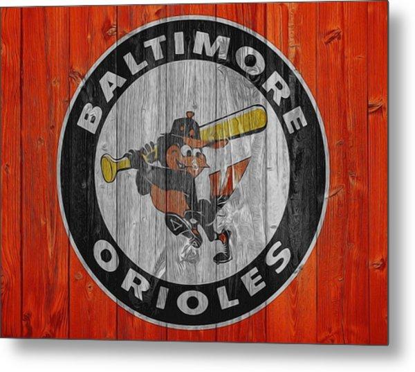 Baltimore Orioles Graphic Barn Door Metal Print