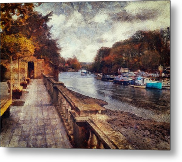 Balustrades And Boats Metal Print