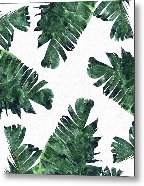 Banan Leaf Watercolor Metal Print