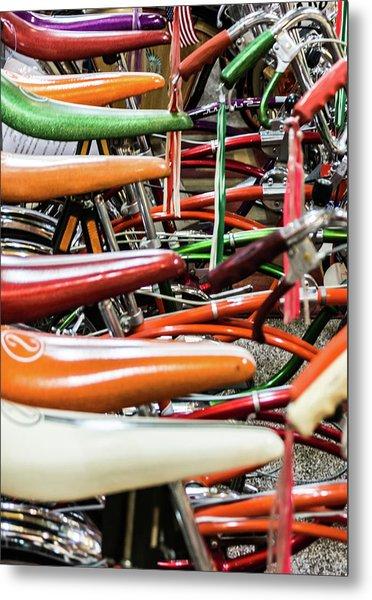 Banana Bikes Metal Print