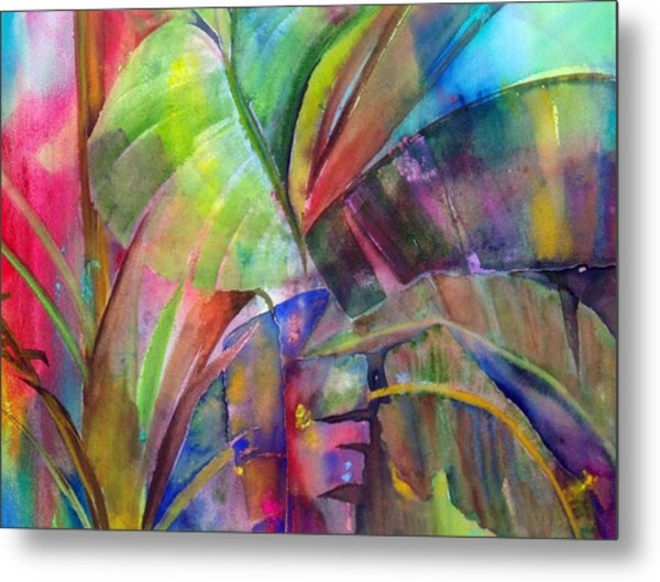 Banana Leaves IIi Metal Print by Maritza Bermudez