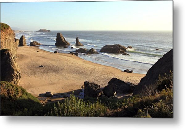 Bandon Beachfront Metal Print
