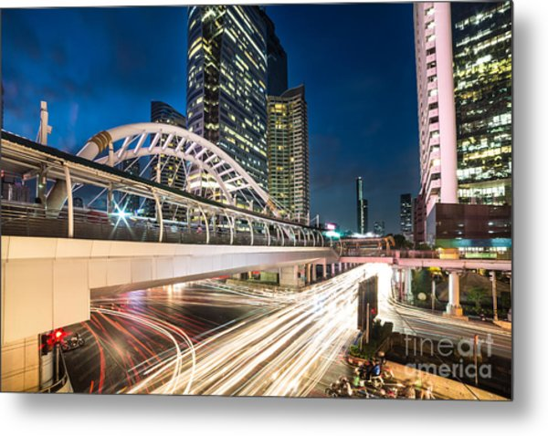 Bangkok Night Rush  Metal Print