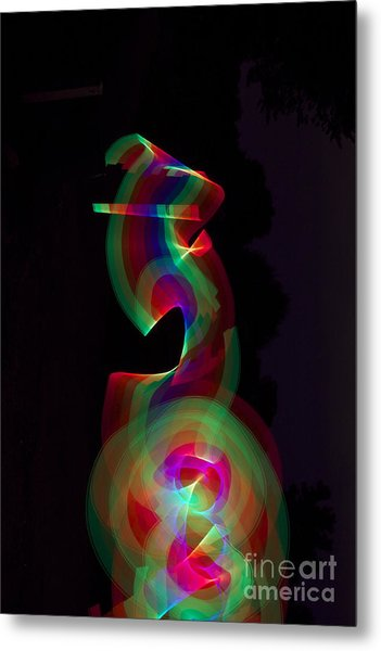 Banished By Light Metal Print