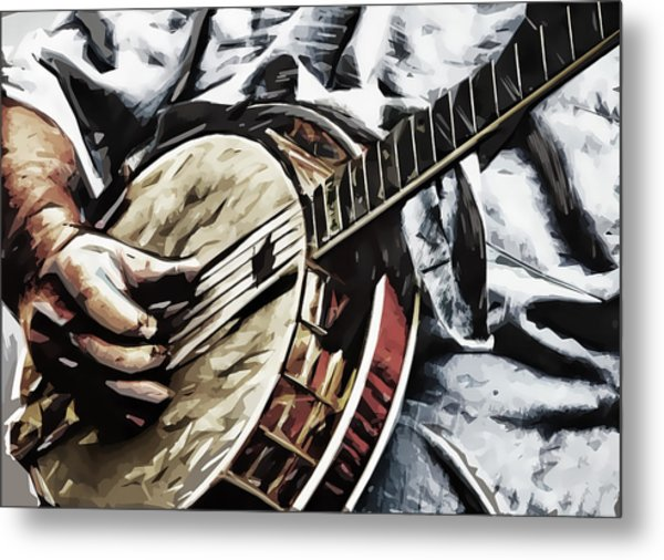 Banjoed Metal Print by Tilly Williams