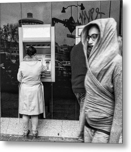 Bank #bank #money #streetphoto_bw Metal Print