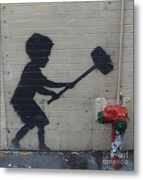 Banksy In New York Metal Print
