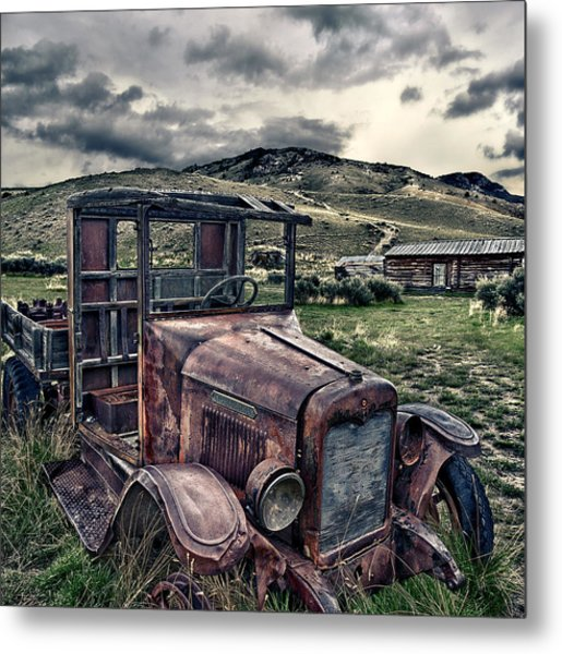 Bannack International - Square Metal Print by Renee Sullivan