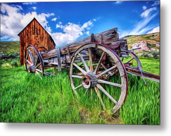 Bannack Wagon Metal Print