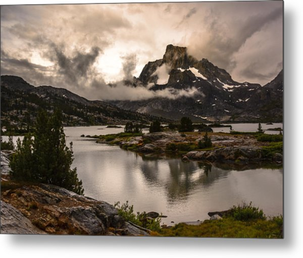 Banner Peak In A Clearing Storm Metal Print