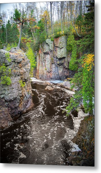 Metal Print featuring the photograph Baptism River In Tettegouche State Park Mn by Alex Blondeau