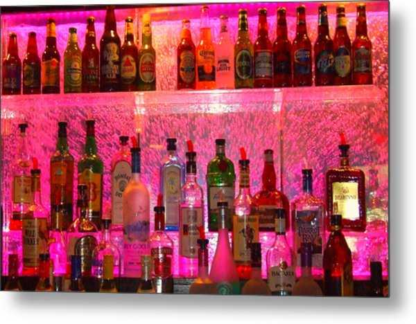 Bar Bubbles In New Orleans Metal Print