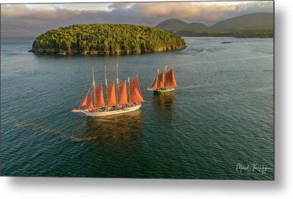 Sailing Thru Life The Downeast Way Metal Print