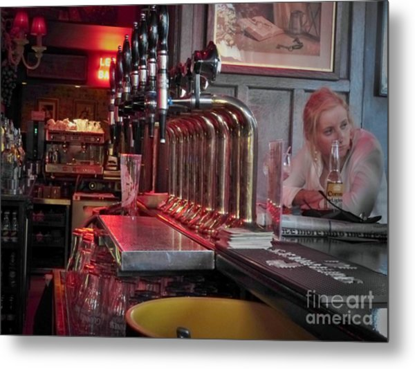 Bar Taps In Kilkenny Metal Print