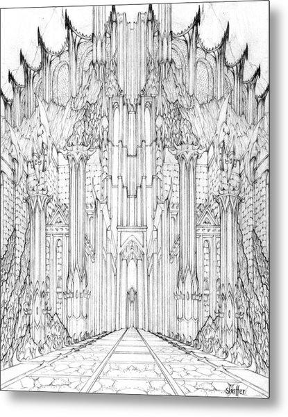 Barad-dur Gate Study Metal Print