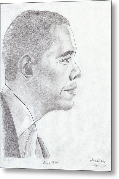 Barak Obama Metal Print