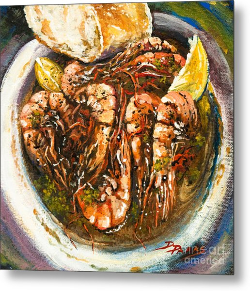 Barbequed Shrimp Metal Print