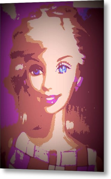 Barbie Hip To Be Square Metal Print