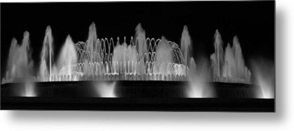 Barcelona Fountain Nightlights Metal Print