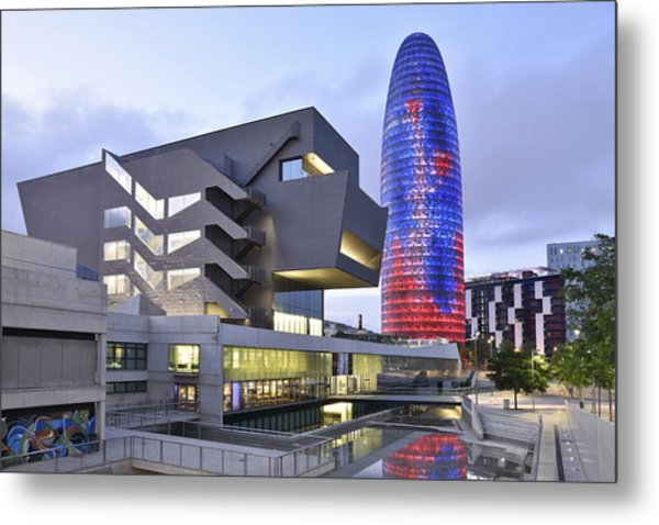 Barcelona Modern Architecture Metal Print