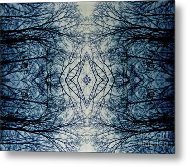Bare Branch Connection Metal Print