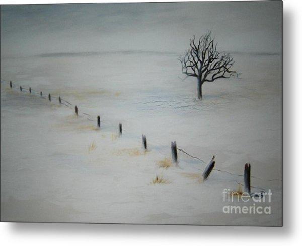 Bare Tree Metal Print by Vivian  Mosley