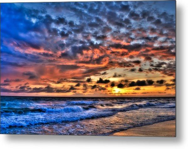 Barefoot Beach Sunset Metal Print by Rich Leighton