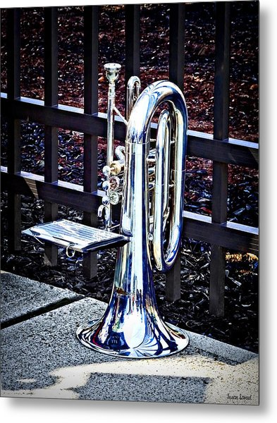 Baritone Horn Before Parade Metal Print
