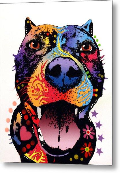 Bark Don't Bite Metal Print by Dean Russo Art