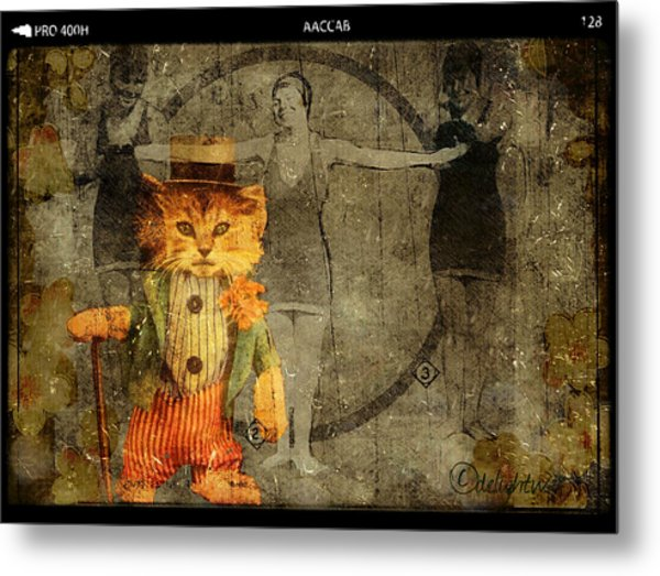Metal Print featuring the digital art Barker by Delight Worthyn