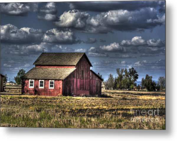 Barn After Storm Metal Print
