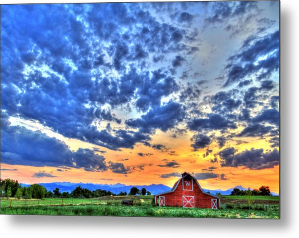 Barn And Sky Metal Print