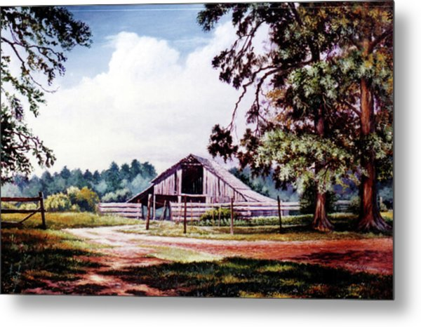 Barn At Honey Island Metal Print