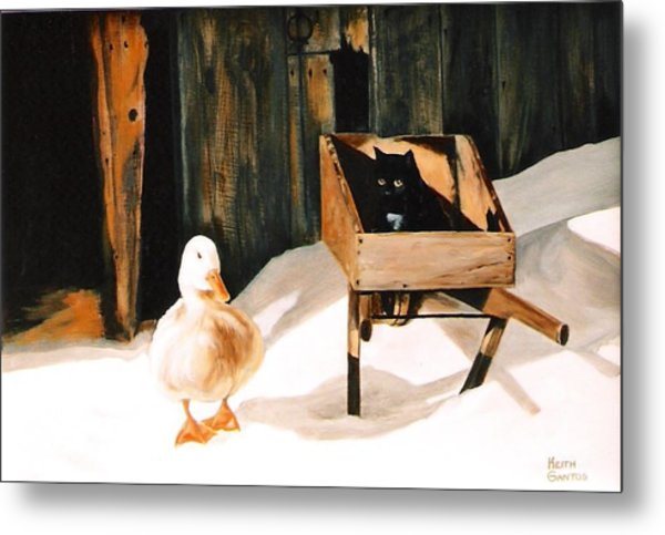 Barn Fellows Metal Print