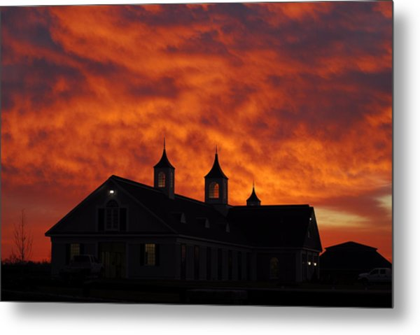 Barn Four At Sunrise Metal Print by Steven Crown