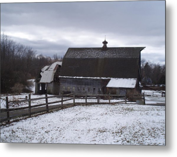 Barn Near New Paltz Ny Metal Print