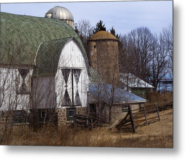 Barn On 29 Metal Print