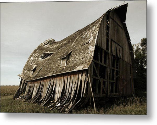 Barn On The Move Metal Print