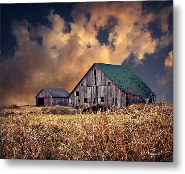 Barn Surrounded With Beauty Metal Print