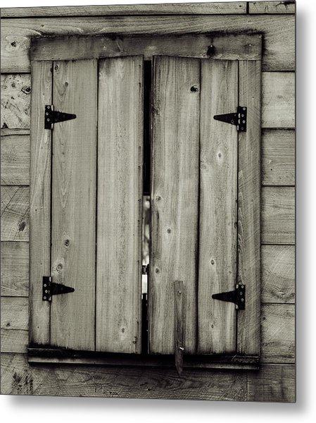 Barn Window Metal Print