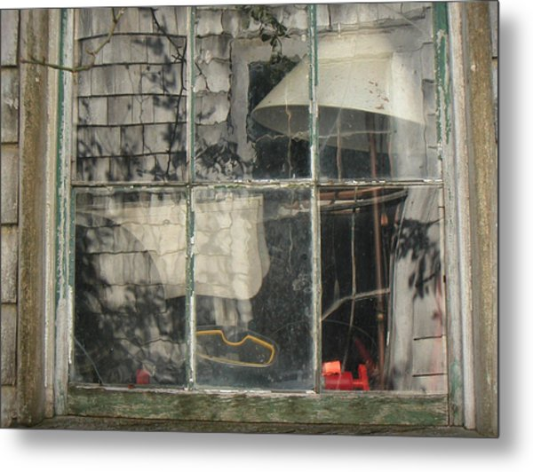 Barn Window Nantucket Metal Print