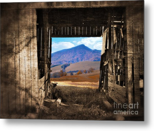Barn With A View Metal Print by Kathy Jennings
