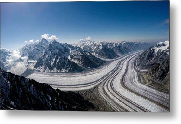 Barnard Glacier Alaska Metal Print