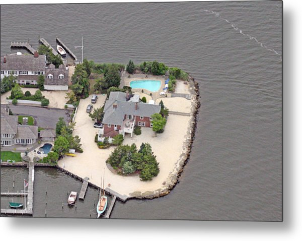Barnegat Bay House Mantoloking New Jersey Metal Print