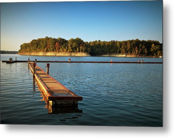 Barren River Lake Dock Metal Print