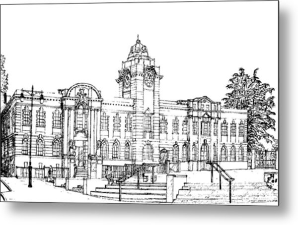 Barry Town Hall And Library Metal Print
