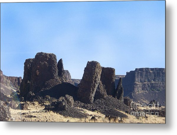 Basalt Columns - The Ice Age Flood Metal Print